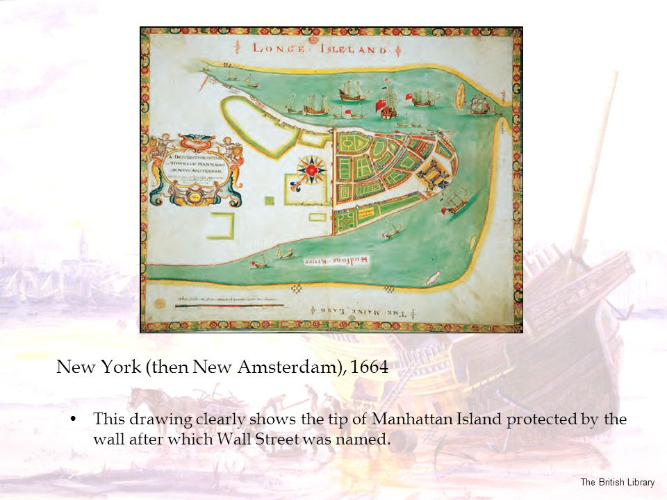 New York (then New Amsterdam), 1664