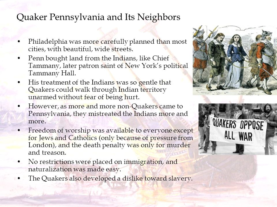 Quaker Pennsylvania and Its Neighbors