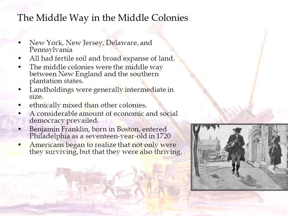 The Middle Way in the Middle Colonies