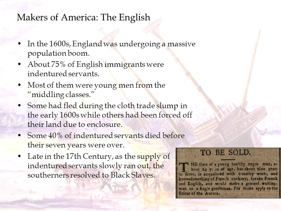 Makers of America: The English