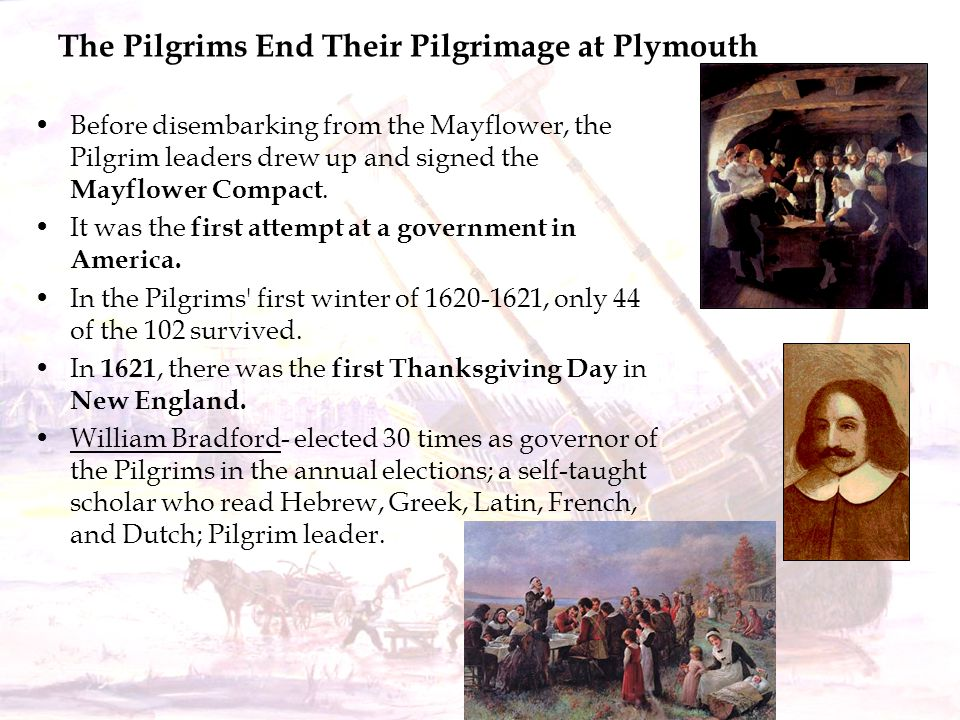 The Pilgrims End Their Pilgrimage at Plymouth