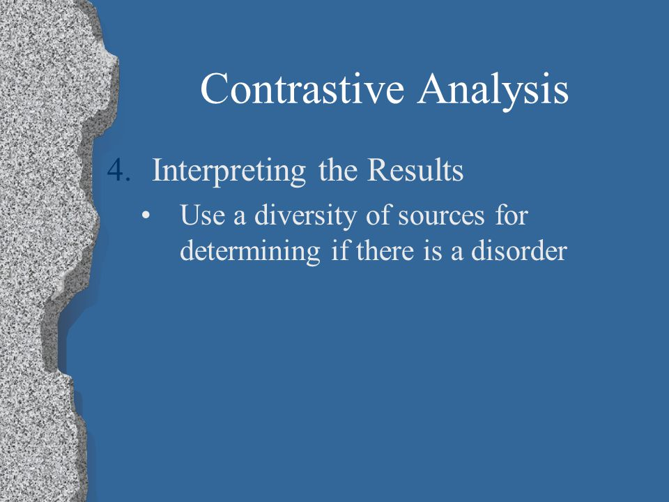 Contrastive Analysis Interpreting the Results