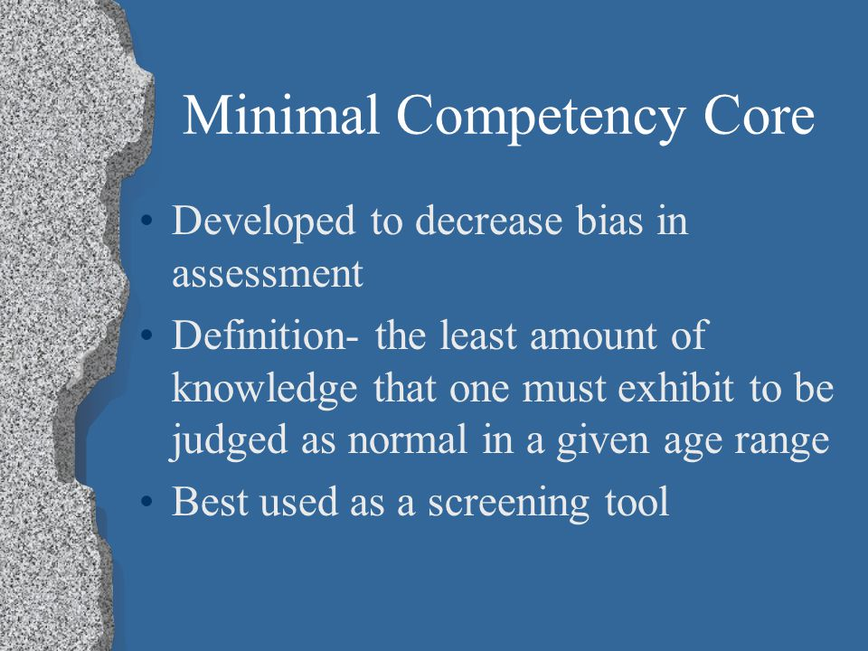 Minimal Competency Core