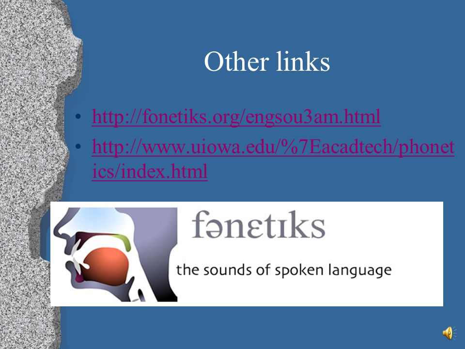 Other links http://fonetiks.org/engsou3am.html