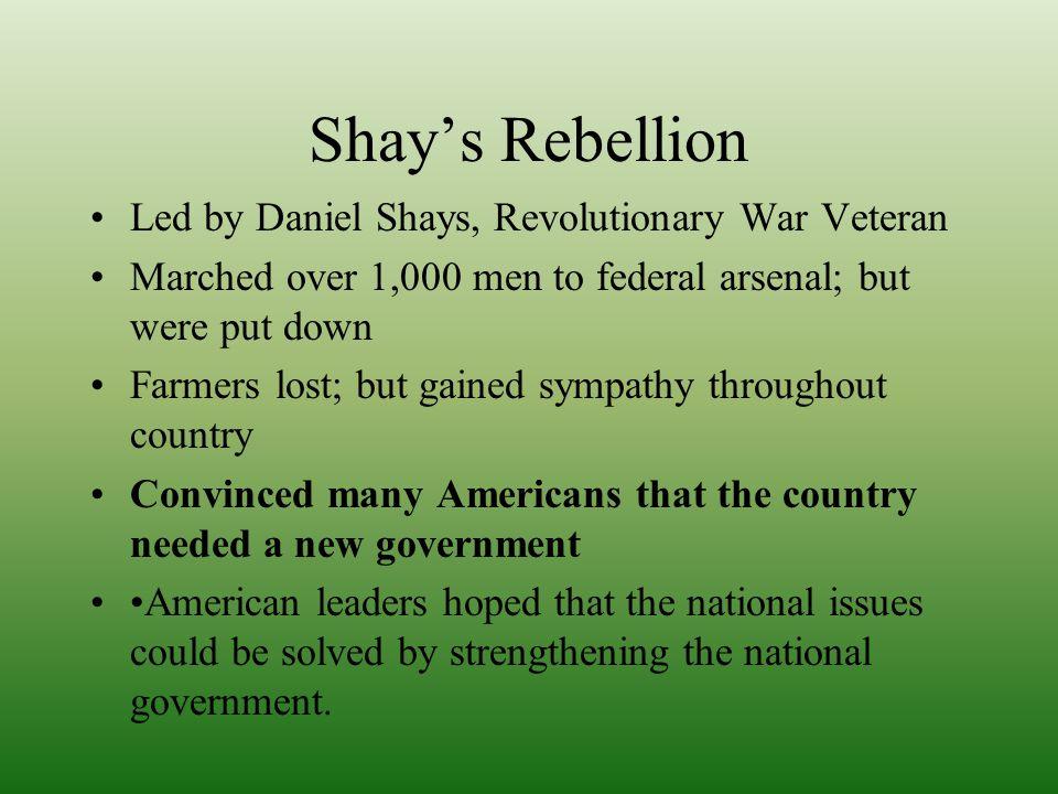 Shay's Rebellion Led by Daniel Shays, Revolutionary War Veteran