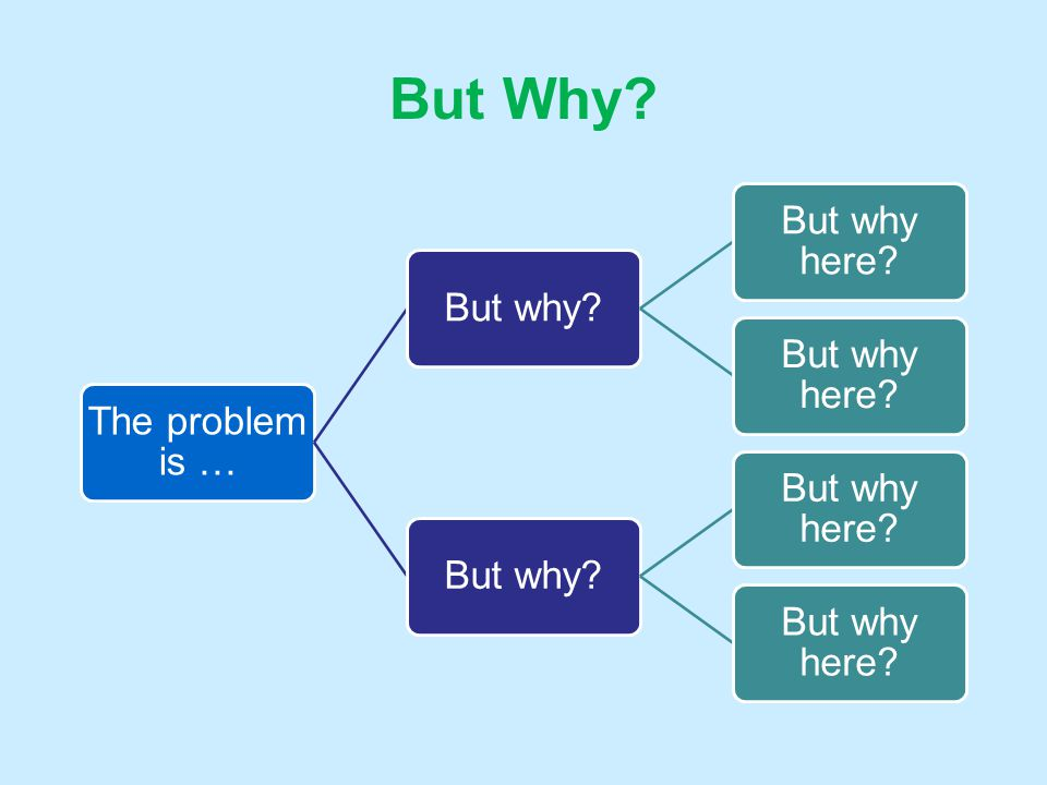 But Why Craft a problem statement (don't wordsmith now)