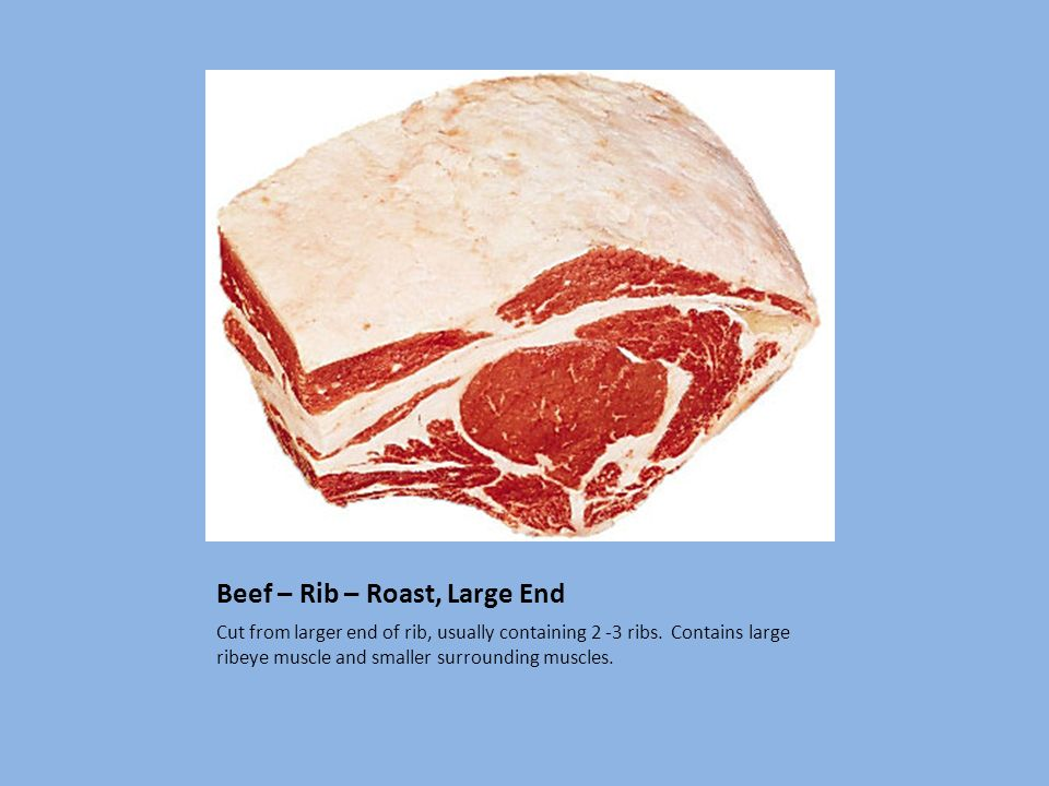 Beef – Rib – Roast, Large End