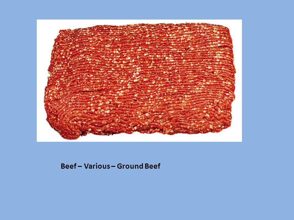 Beef – Various – Ground Beef