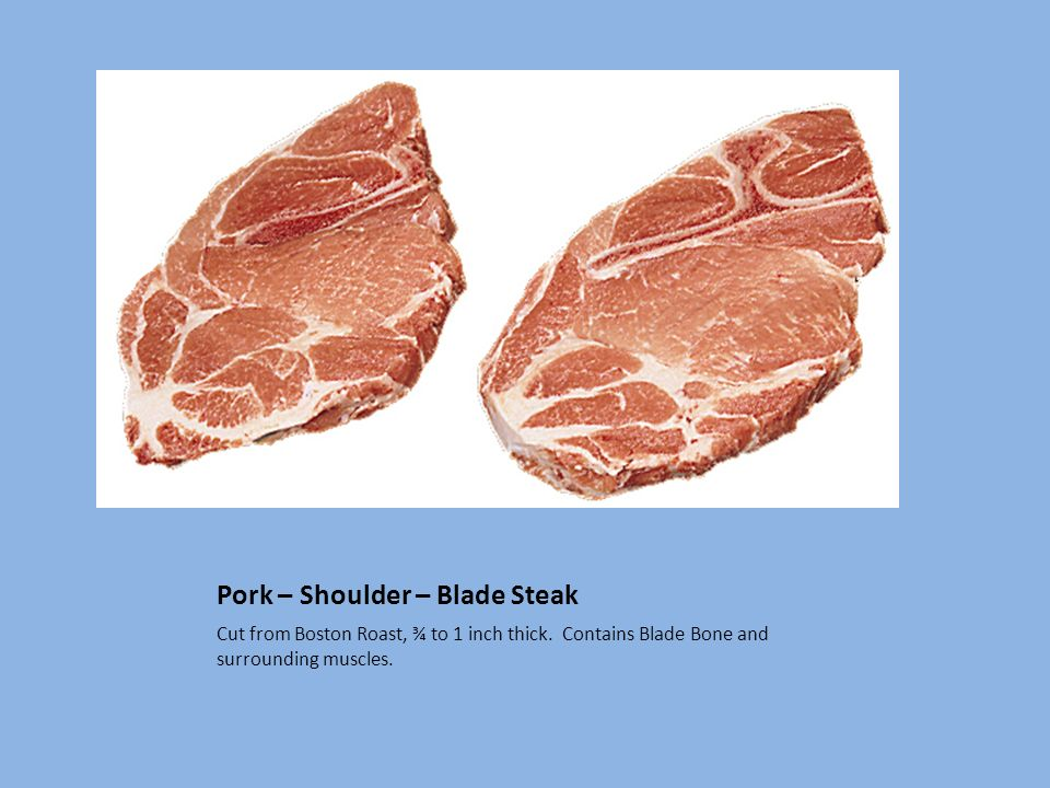 Pork – Shoulder – Blade Steak