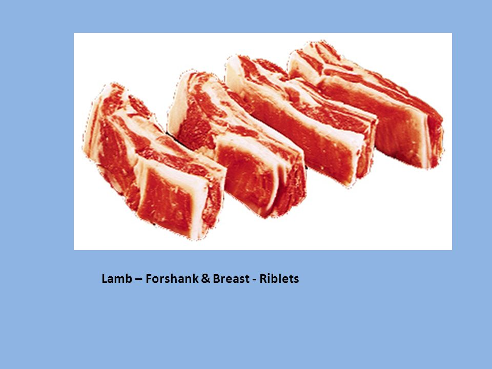 Lamb – Forshank & Breast - Riblets