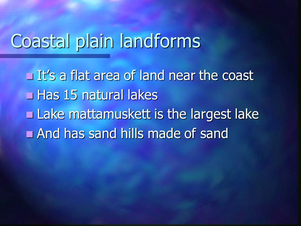 Coastal plain landforms