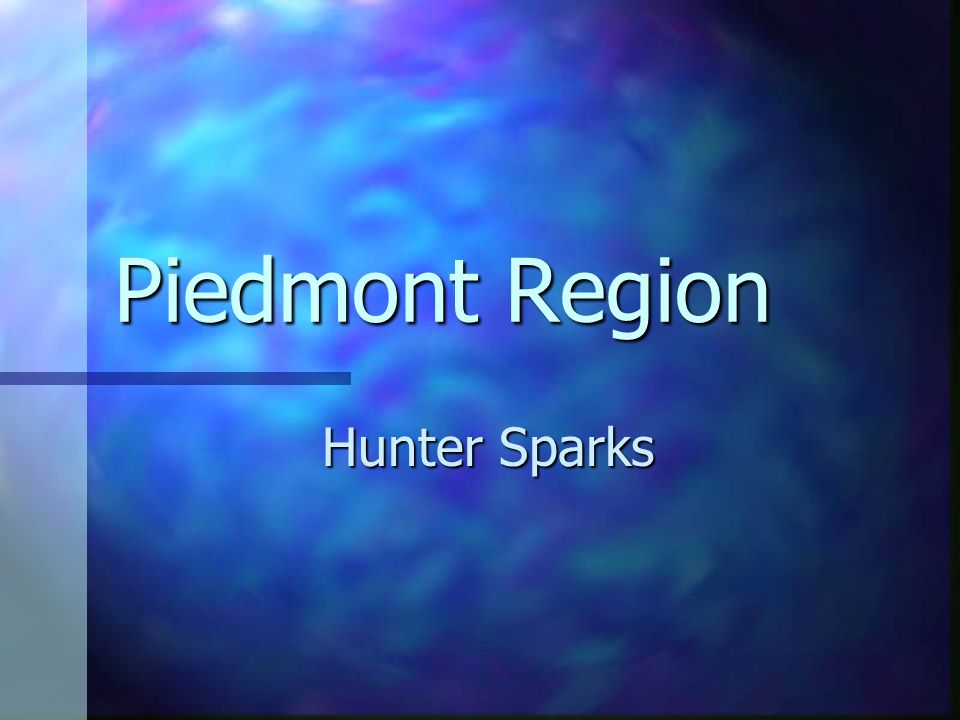 Piedmont Region Hunter Sparks