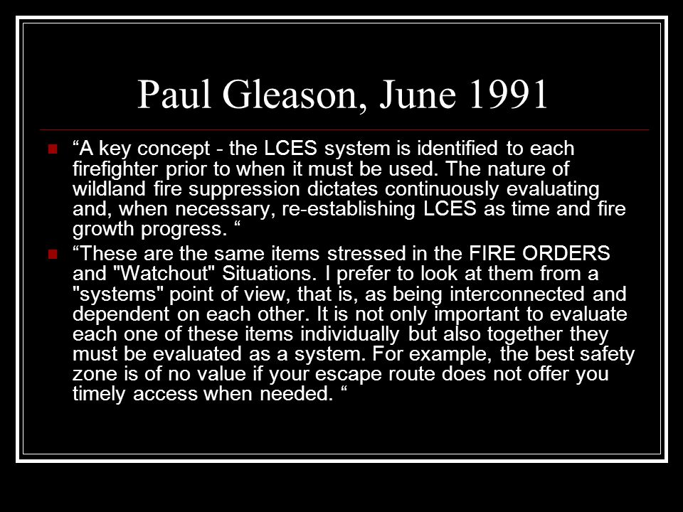 Paul Gleason, June 1991