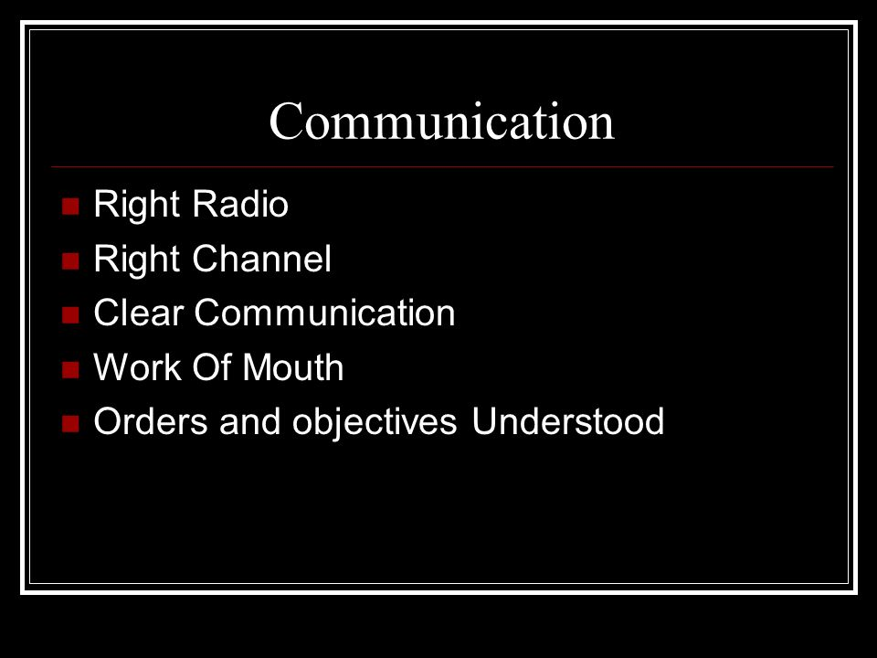 Communication Right Radio Right Channel Clear Communication