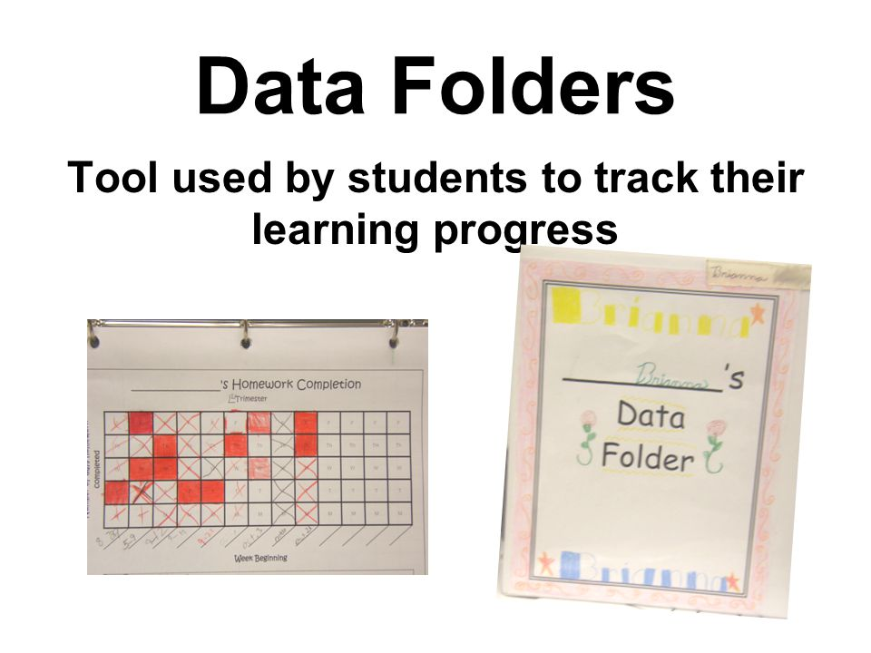 Tool used by students to track their learning progress