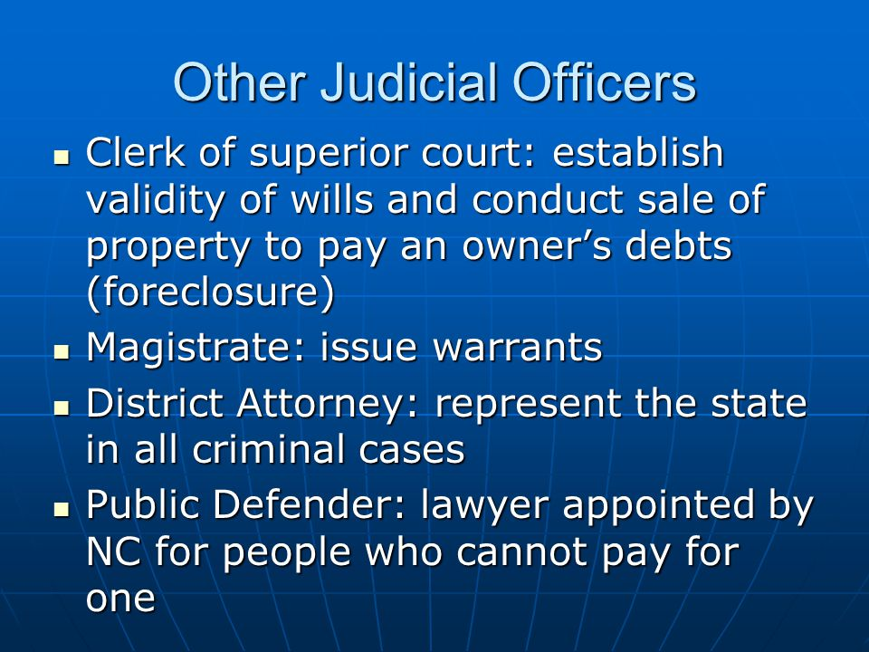 Other Judicial Officers