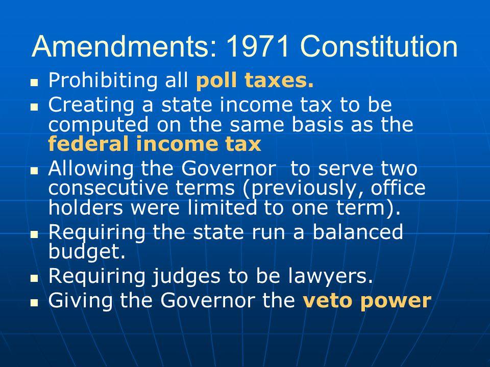 Amendments: 1971 Constitution