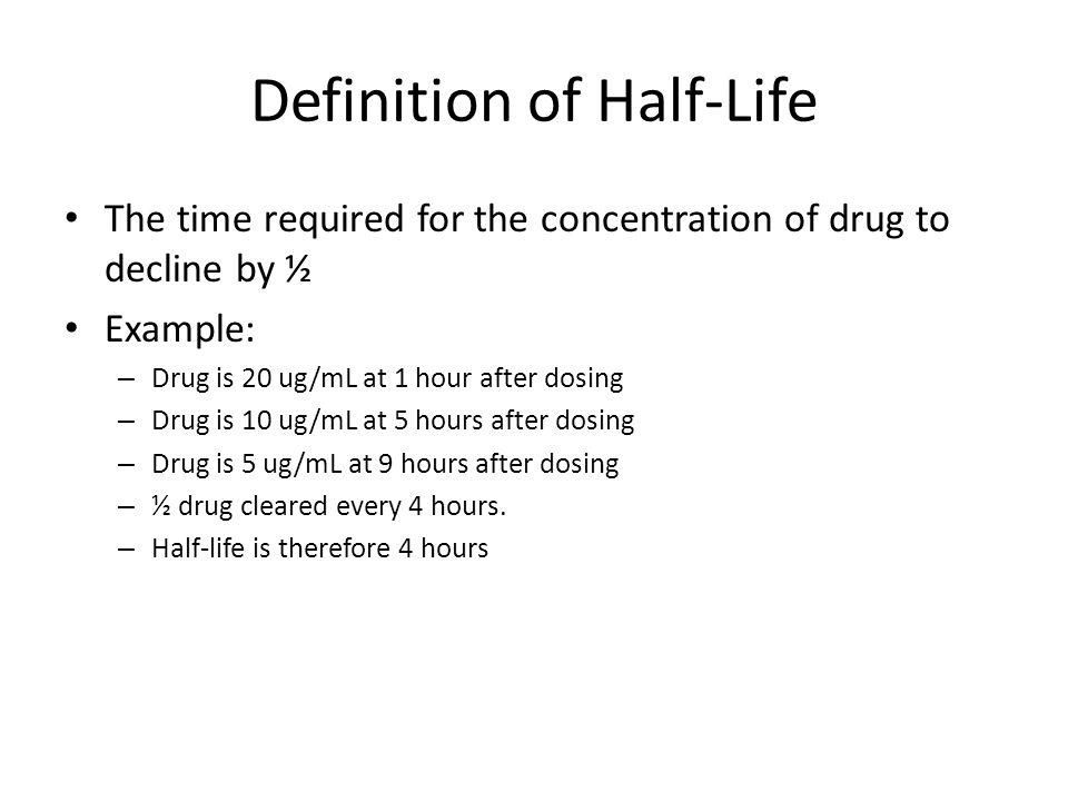 Definition of Half-Life