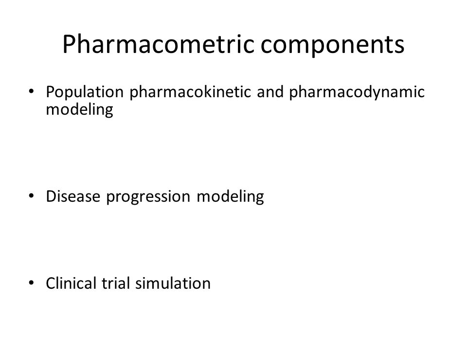 Pharmacometric components