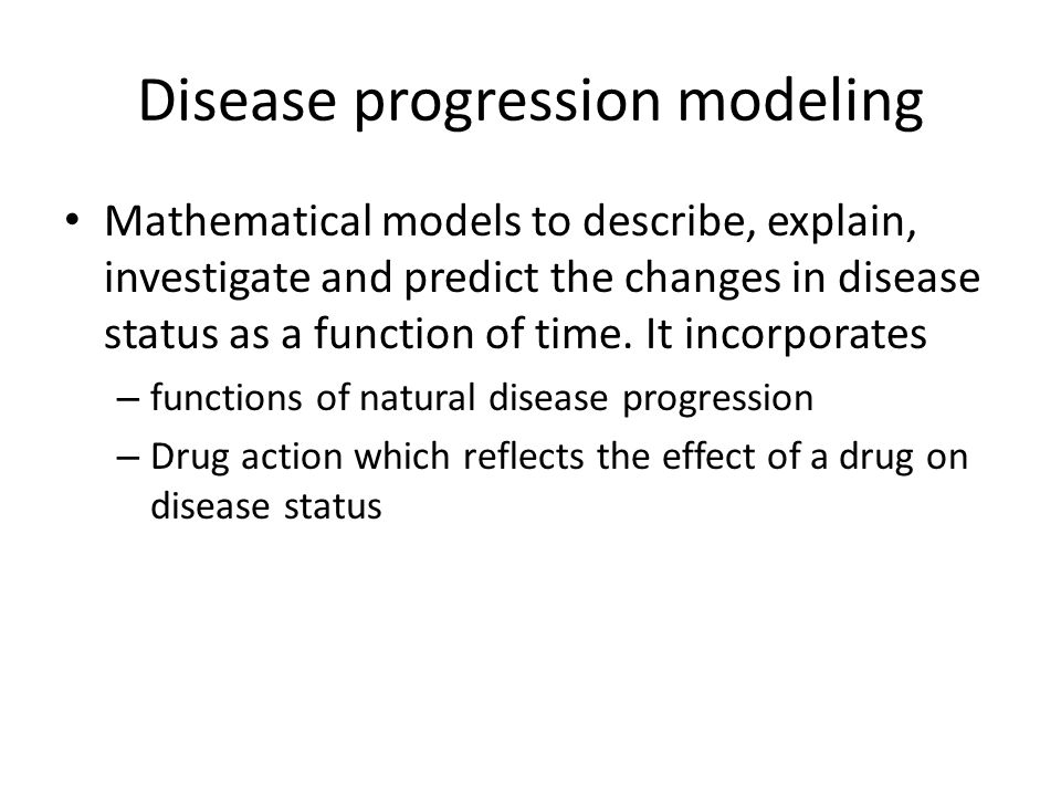 Disease progression modeling