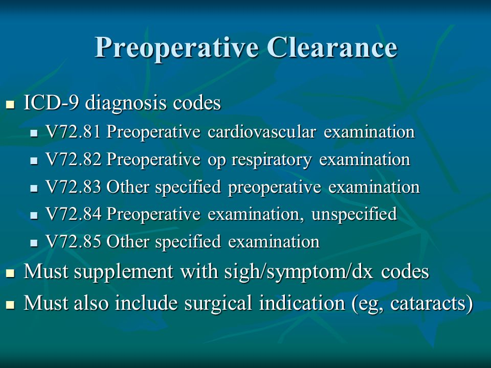 Preoperative Clearance