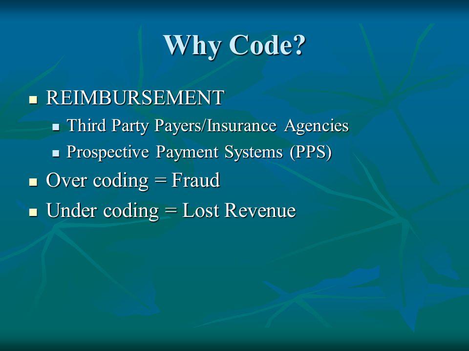 Why Code REIMBURSEMENT Over coding = Fraud