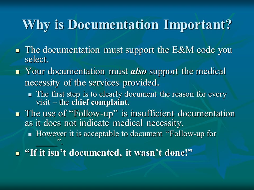 Why is Documentation Important