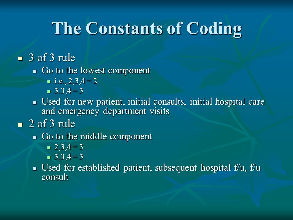 The Constants of Coding