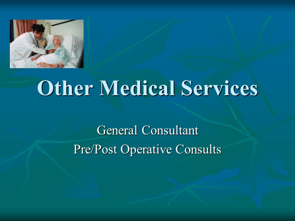 Other Medical Services