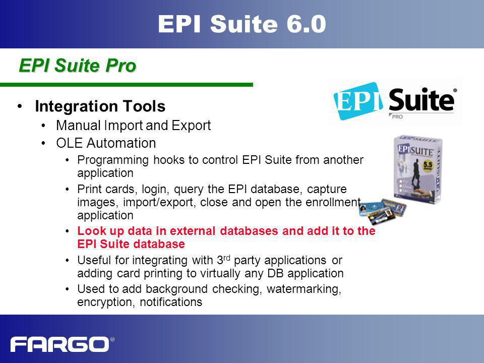 EPI Suite Pro Integration Tools Manual Import and Export