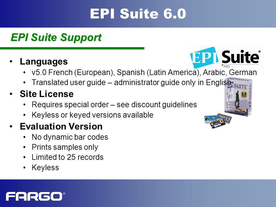 EPI Suite Support Languages Site License Evaluation Version