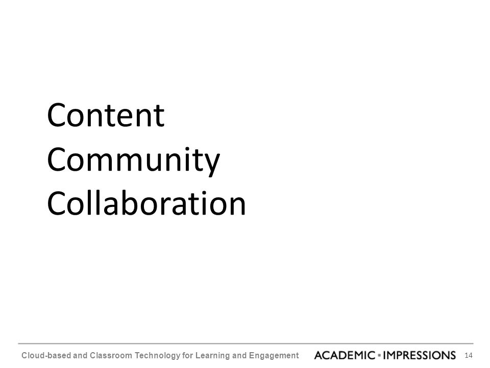 Content Community Collaboration