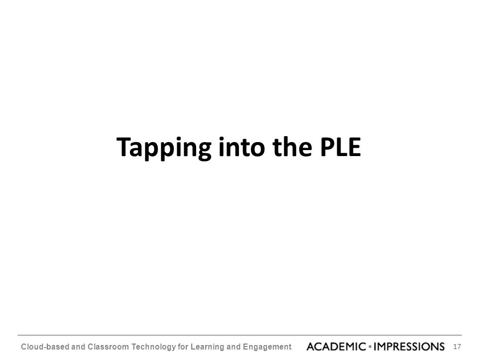 Tapping into the PLE