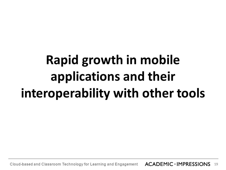 Rapid growth in mobile applications and their interoperability with other tools