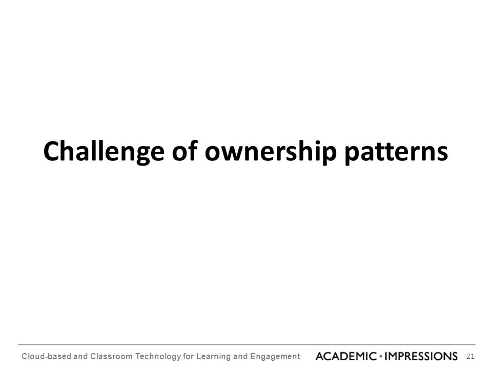 Challenge of ownership patterns