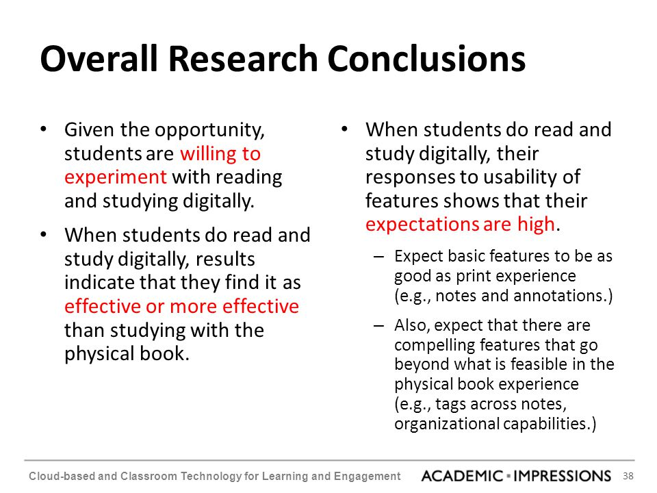 Overall Research Conclusions