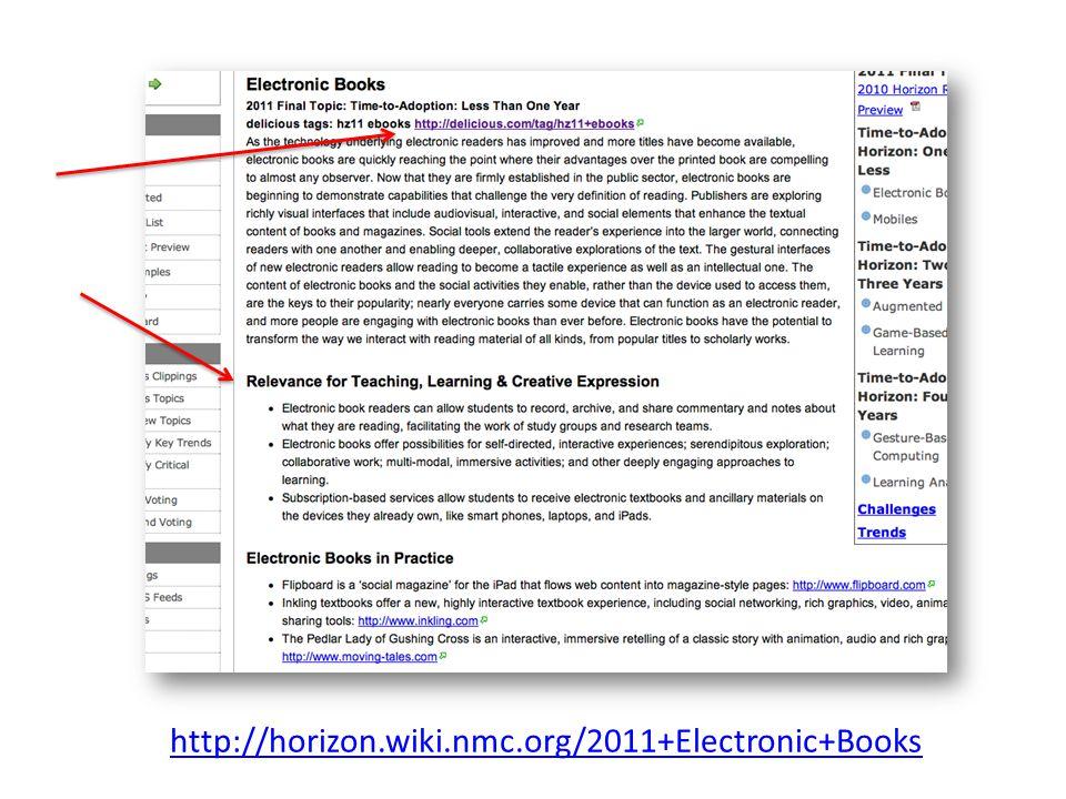 http://horizon.wiki.nmc.org/2011+Electronic+Books