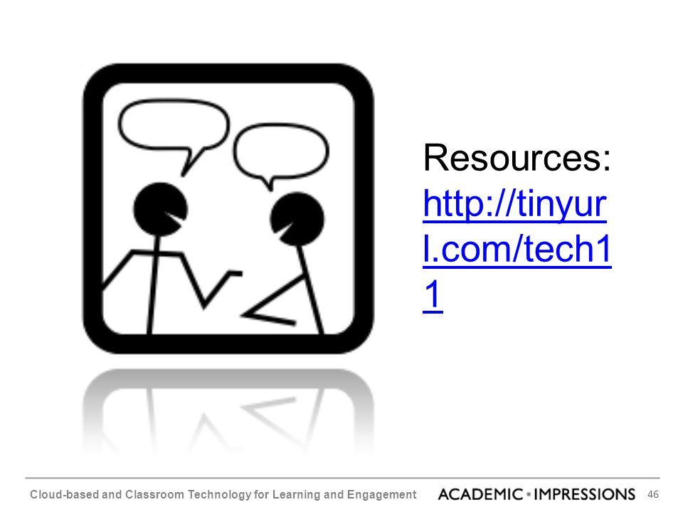 Resources: http://tinyurl.com/tech11