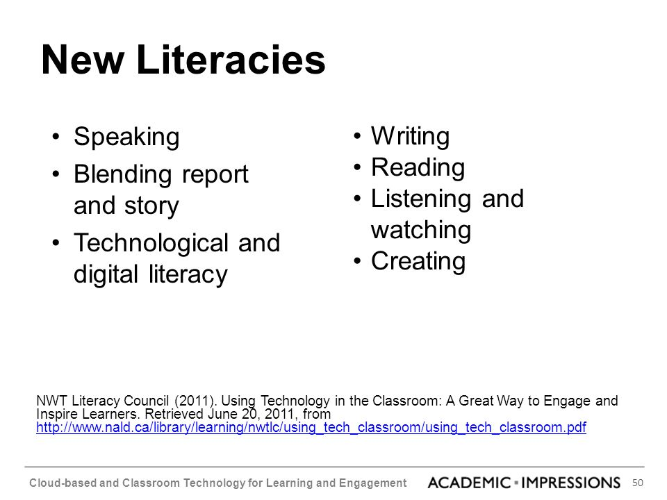 New Literacies Speaking Blending report and story