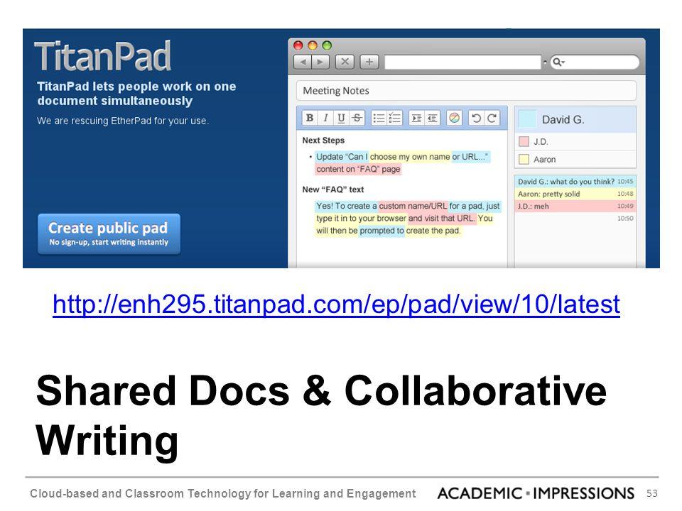 Shared Docs & Collaborative Writing
