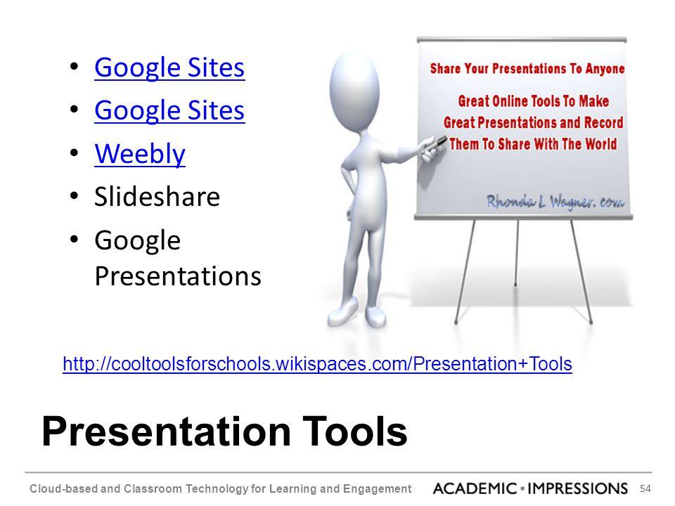 Presentation Tools Google Sites Weebly Slideshare Google Presentations