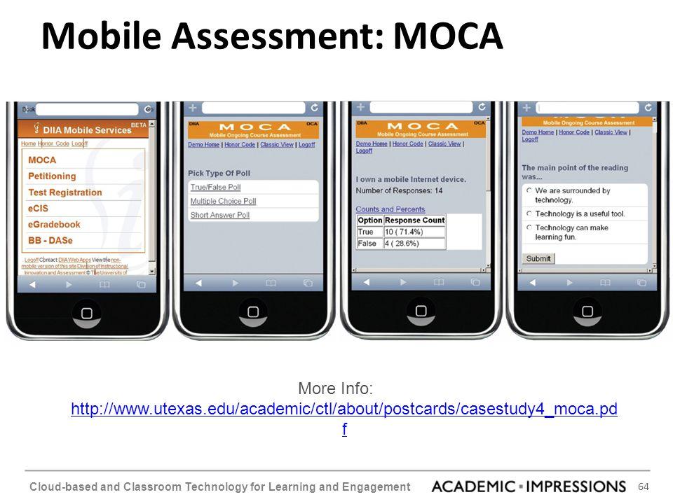Mobile Assessment: MOCA