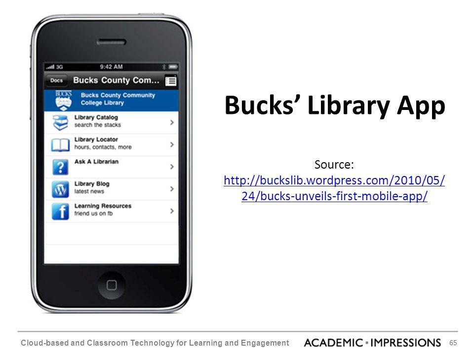 Bucks' Library App Source: http://buckslib. wordpress