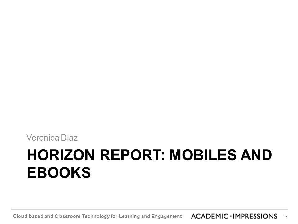 Horizon Report: Mobiles and eBooks