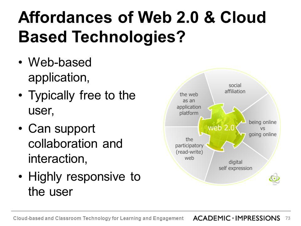 Affordances of Web 2.0 & Cloud Based Technologies