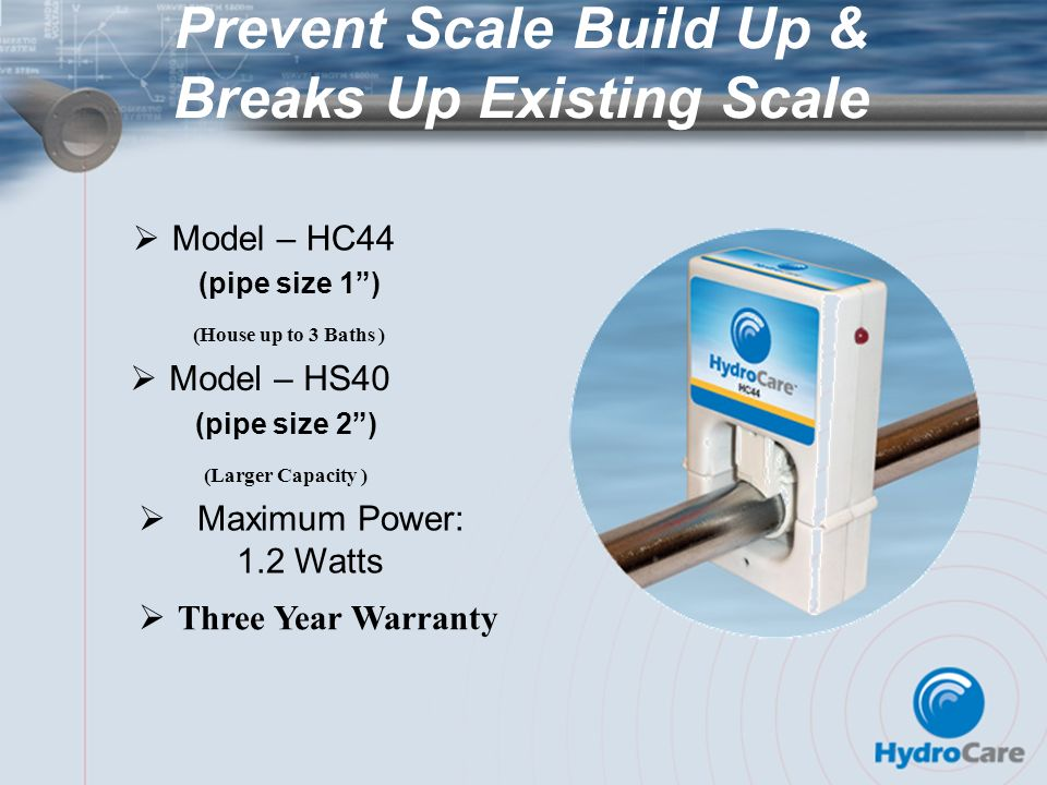 Prevent Scale Build Up & Breaks Up Existing Scale