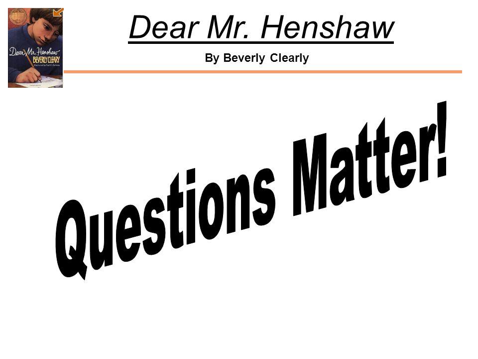 Questions Matter!