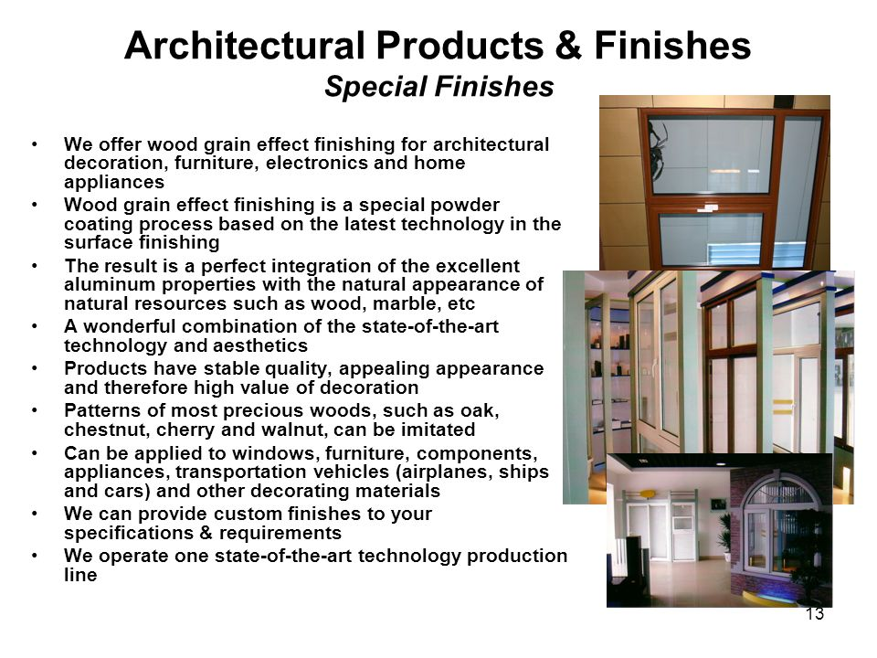 Architectural Products & Finishes Special Finishes