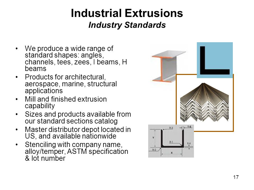 Industrial Extrusions Industry Standards