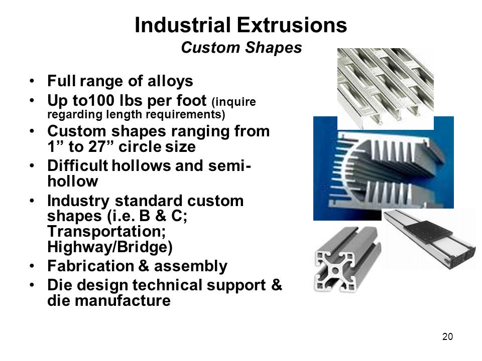 Industrial Extrusions Custom Shapes